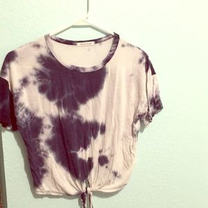 Navy Blue and white ty-dye shirt